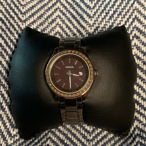 Fossil Chocolate Brown Watch with Chocolate CZ